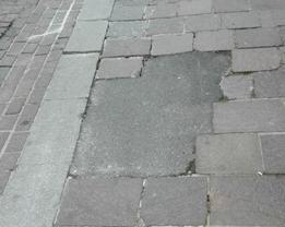 rattoppo porfido in Via Verona - Sant'Ubaldo