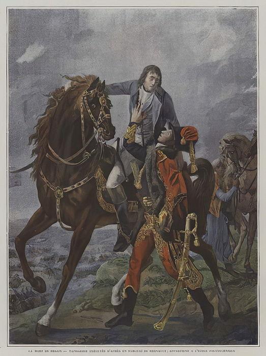 La morte del generale Desaix nella battaglia di Ma...